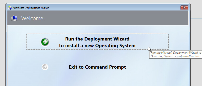 Windows OS deployment using MDT and WDS   Adaptive