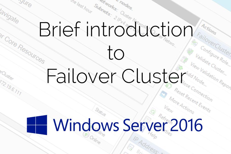 Failover-Cluster